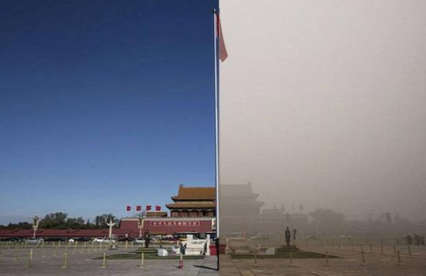 Isten állatkertje Kína Peking szmog füst
