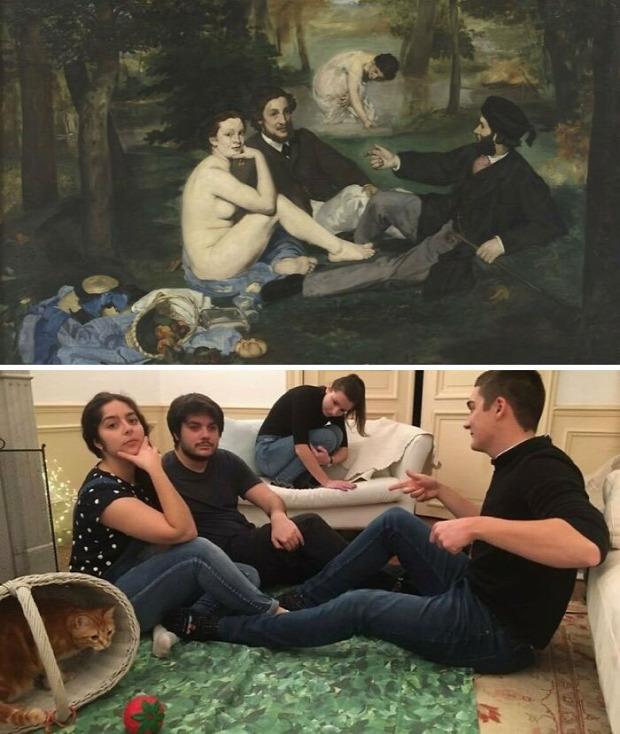 karanté festészet hobbi élőkép