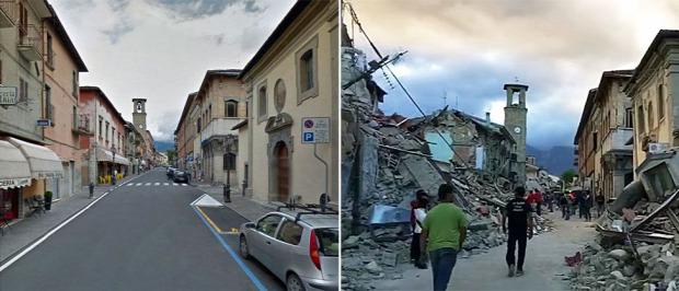 A világ érdekes Olaszország földrengés