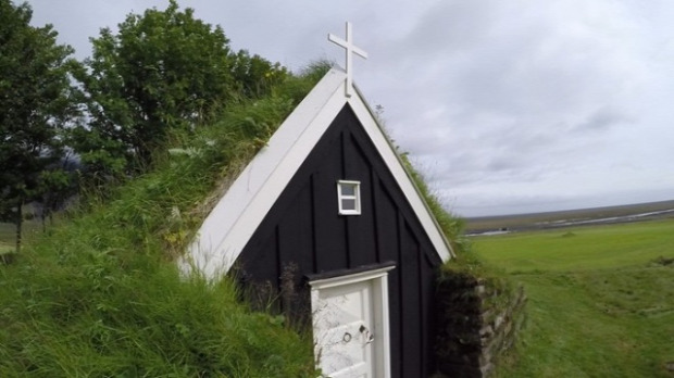 Izland tmplom elhagyatott mini