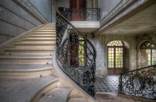 A világ érdekes elhagyott épület