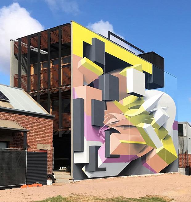 A világ érdekes graffiti 3D