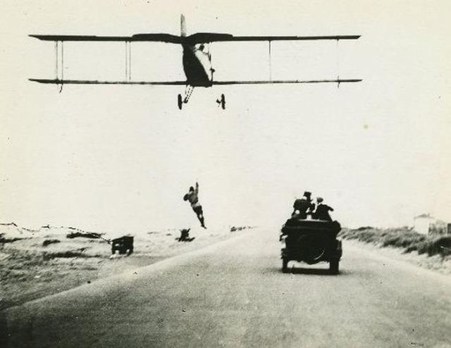 Amerika 20-as évek kaszkadőr légi