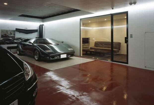 A világ érdekes tokió ház lakás luxus lift autó garázs
