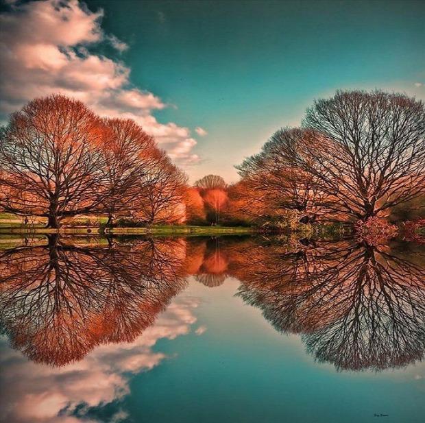 A világ érdekes tükörkép tükröződés