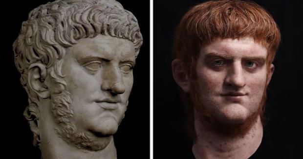 A világ érdekes hiperrealista szobor mellszobor római császár