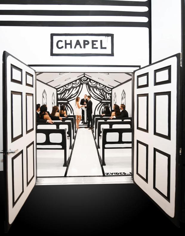 A világ érdekes Las Vegas Esküvő kápolna rajzfilm cartoon skicc