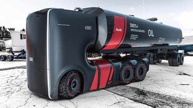 A világ érdekes Audi kamion koncepció elektromos önjáró önvezető