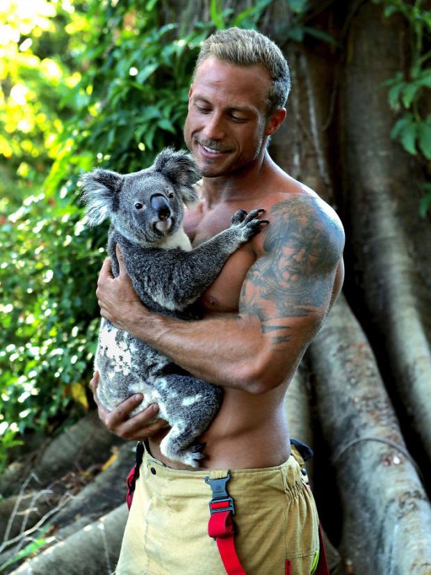 A világ érdekes ausztrál tűzoltó naptár jótékonyság állat