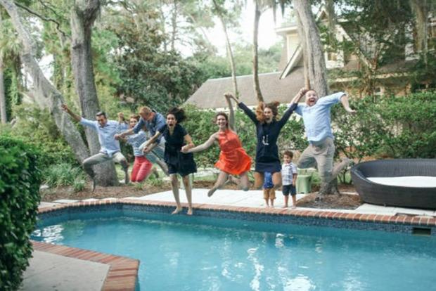A világ érdekes család fotó nyaralás