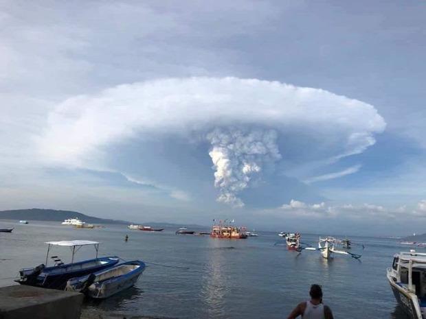 Taal vulkán kitörés