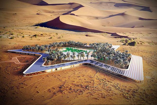 A világ érdekes Egyesült Arab Emirségek Öko bio resort sivatag oázis