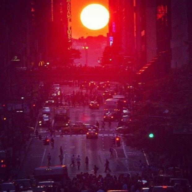 A világ érdekes New York Manhattan napnyugta naplemente