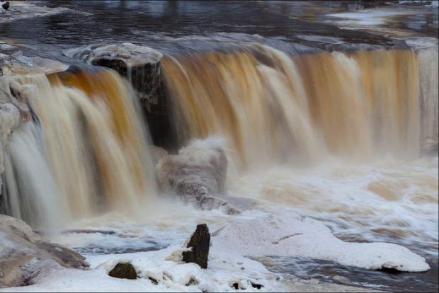 A világ érdekes Észtország vízesés Jagala