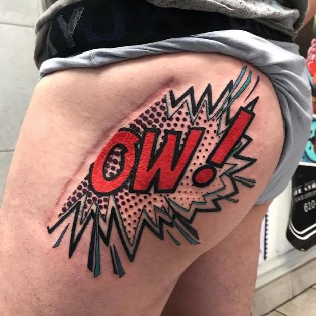 A világ érdekes seb heg tetoválás tattoo tetkó