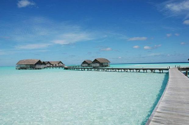 A világ érdekes Cocoa island Kakaó-sziget bárka csónak bungaló faház hajó