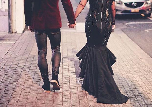 A világ érdekes esküvő ruha fekete menyasszony