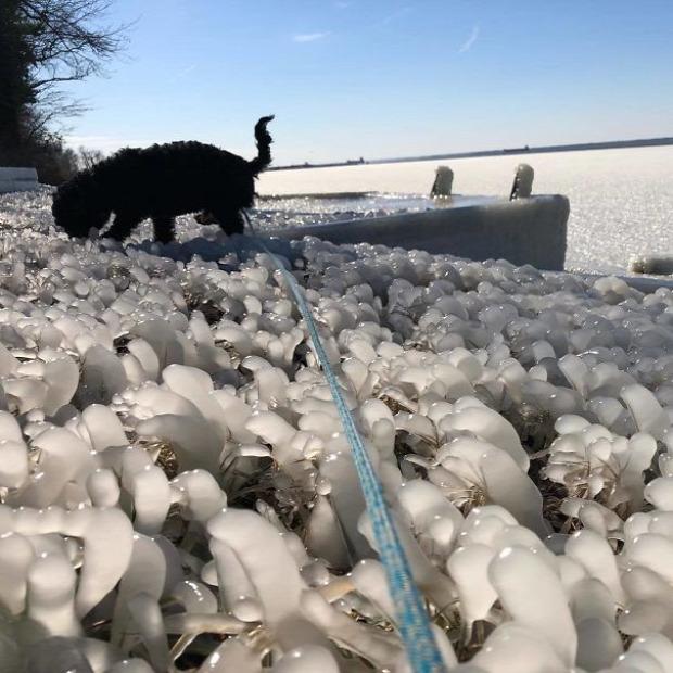 A világ érdekes amerika hideg fagy jég