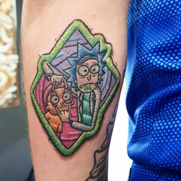 A világ érdekes tetoválás tekó tatoo hímzés