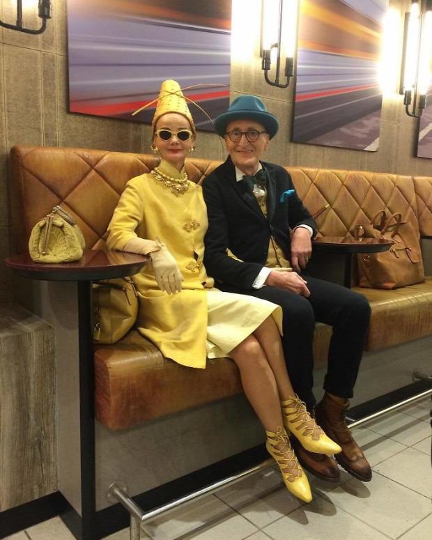 divat idős elegancia Berlin
