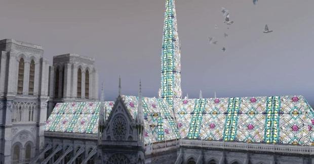 A világ érdekes Notre Dame Párizs tető torony új