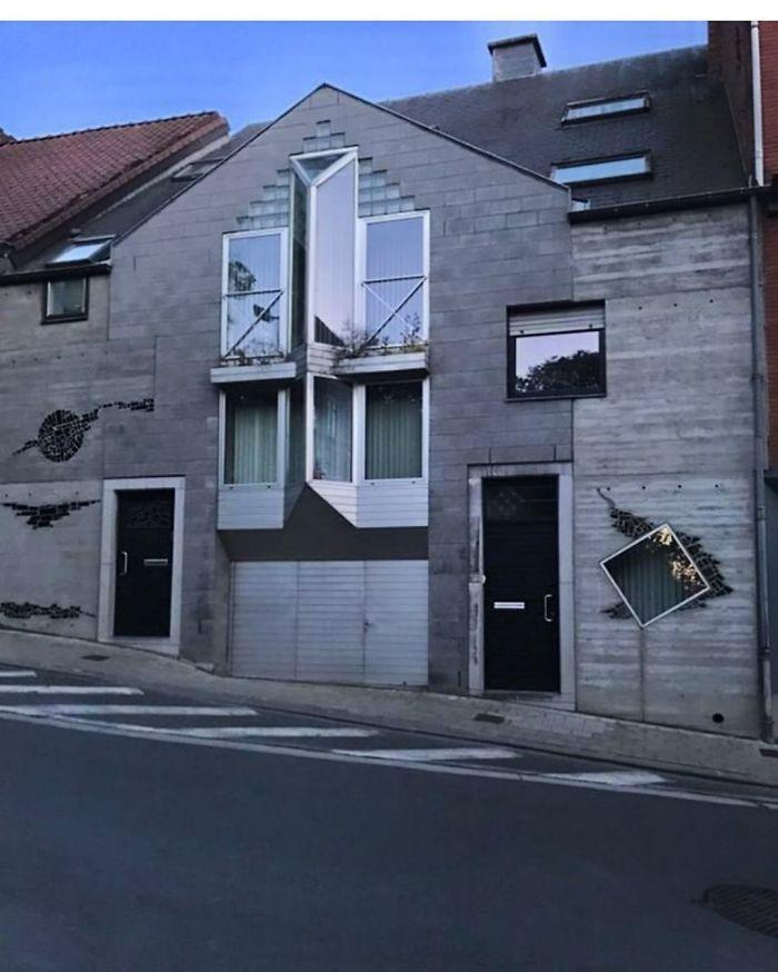 A világ érdekes Belgium csúnya ronda ház