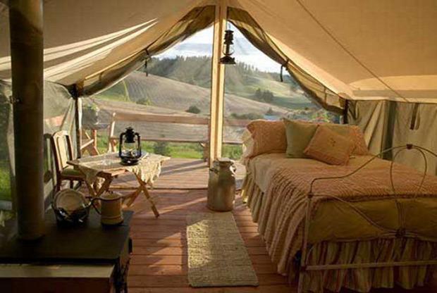 A világ érdekes luxus sátor bungaló kemping