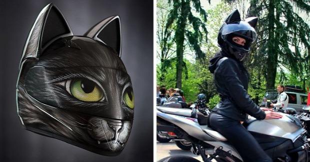 kütyülógia motor sisak macska fül festés
