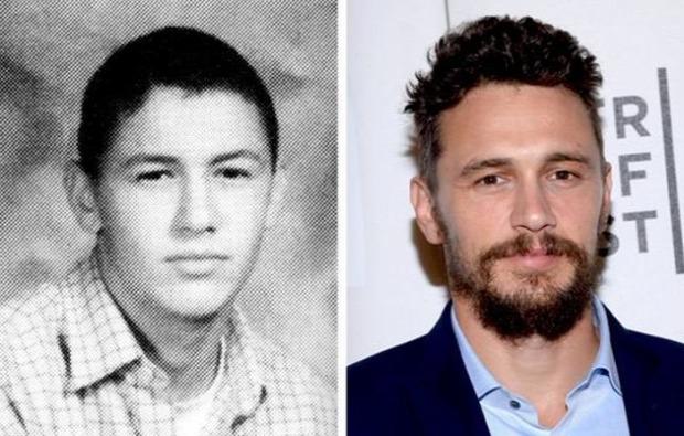 A világ érdekes sztárok tini öregedés fotó gimnázium évkönyv