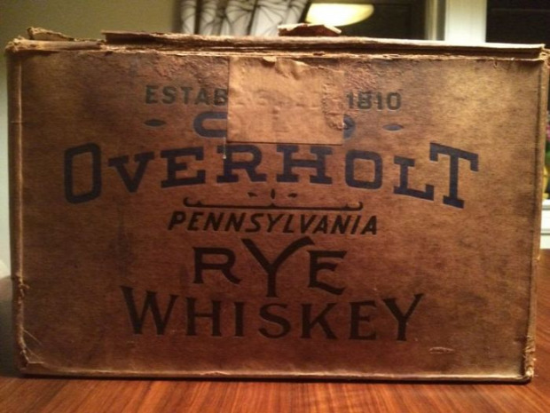 Vintázs Vintage Retró whiskey láda érintetlen
