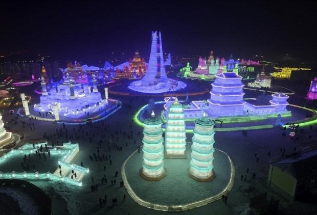 A világ érdekes Kína Harbin hó jég fesztivál