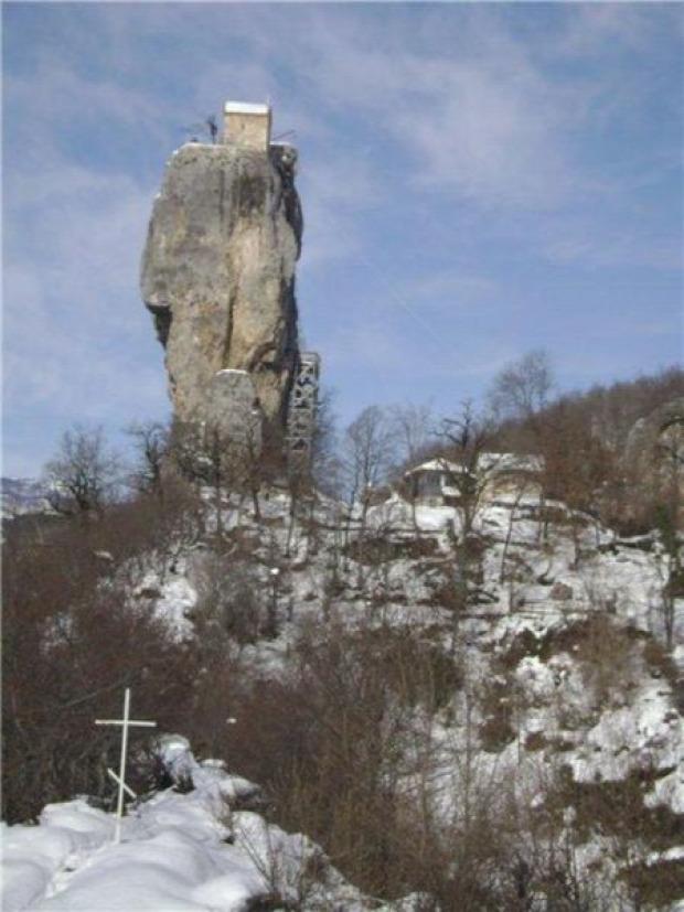 A világ érdekes Grúzia templom szikla