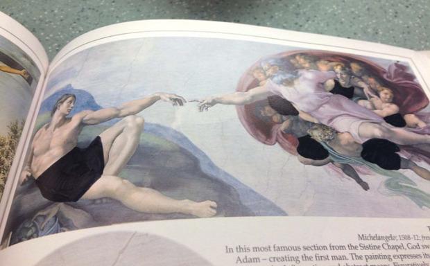 A világ érdekes cenzúra művészet keresztény