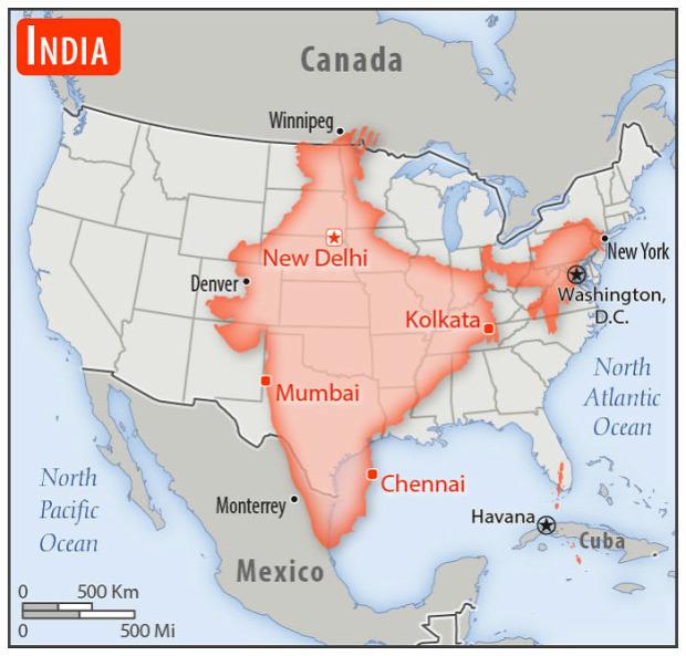 A világ érdekes ország méret összehasonlítás
