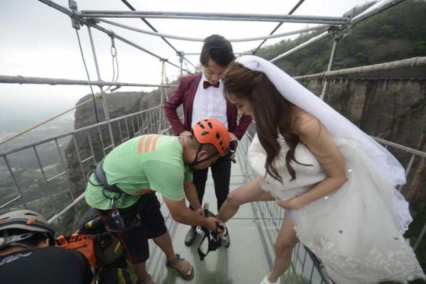 A világ érdekes Kína esküvő levegőben