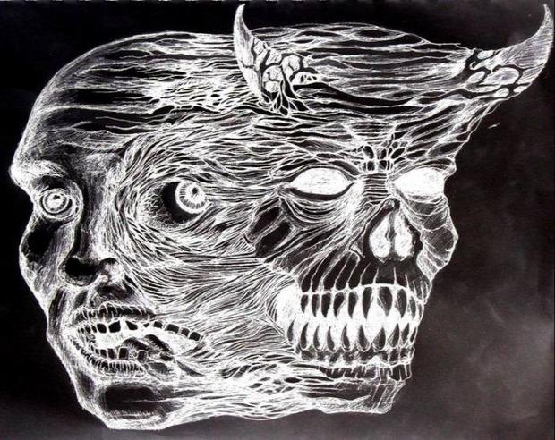 A világ érdekes betegség festmény rajz skizofrénia