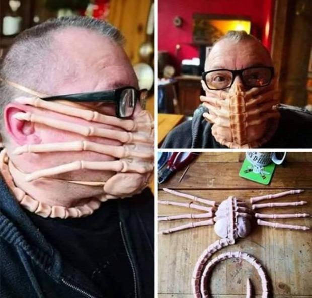maszk járvány különleges egyedi maszkok