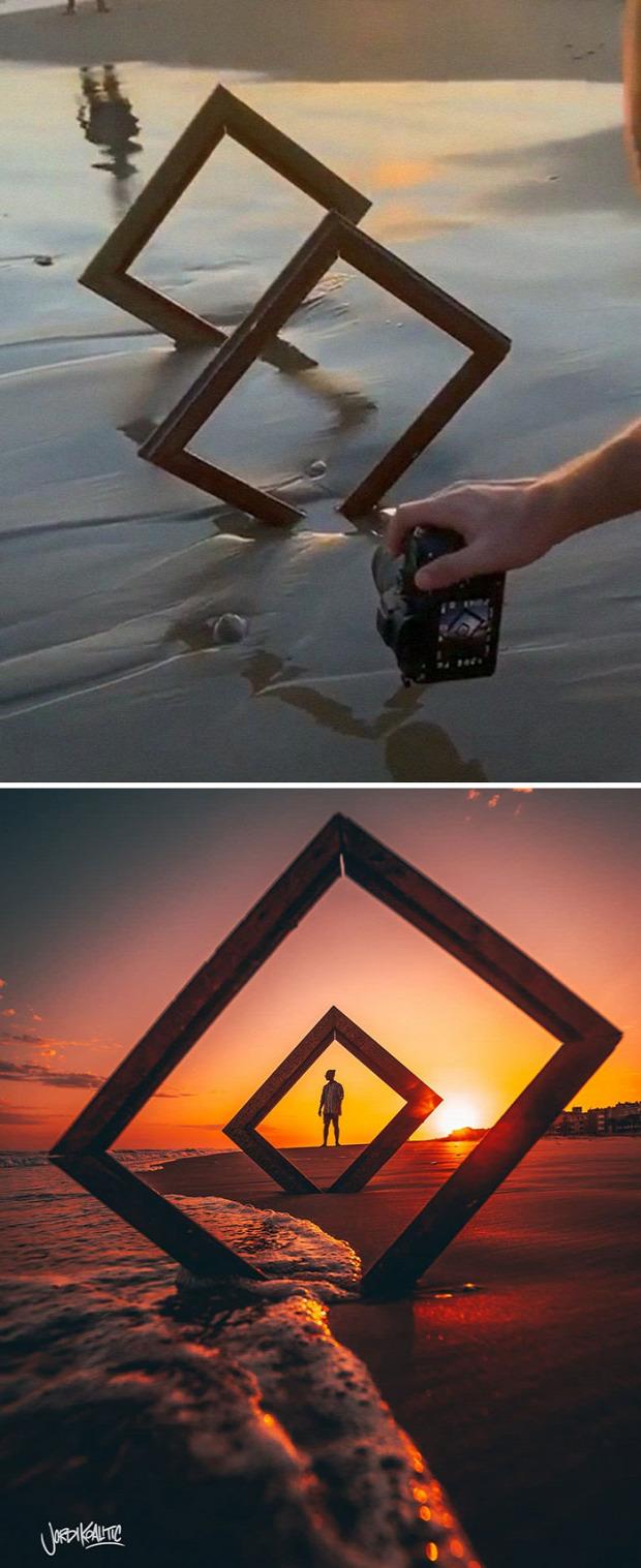 A világ érdekes trükk fotó fénykép