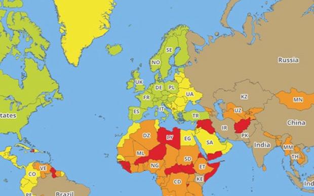 A világ érdekes veszély világ ország