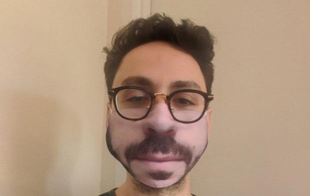 arc maszk fotó nyomtatás rossz vicces