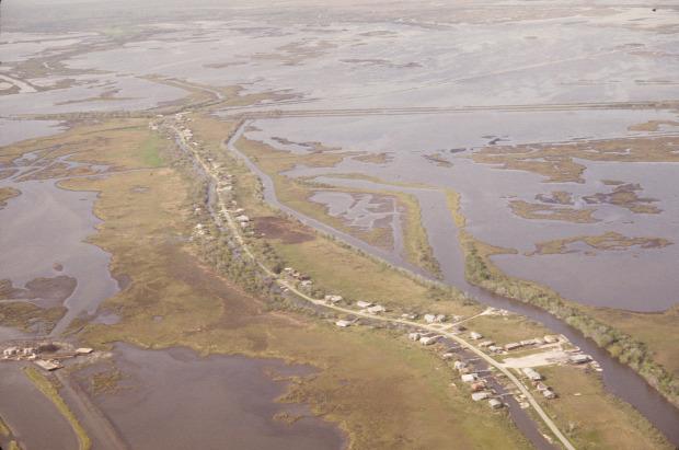 klímamenekült  USA Amerika első Ile de Jean Charles sziget