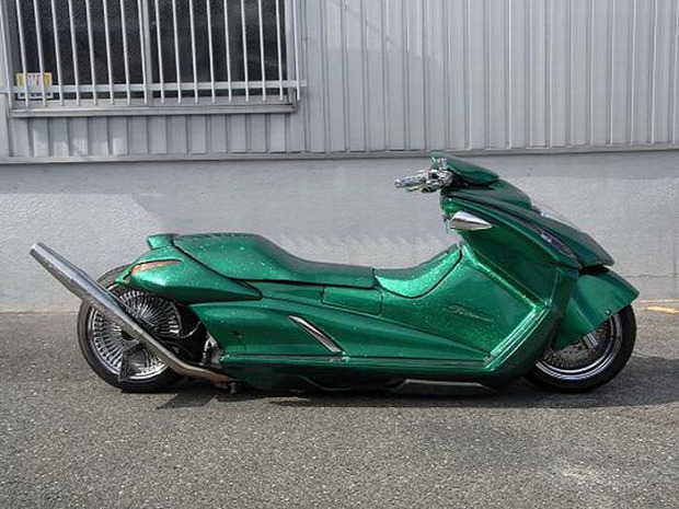 A világ édekes Japán robogó motor scooter dizájn divat