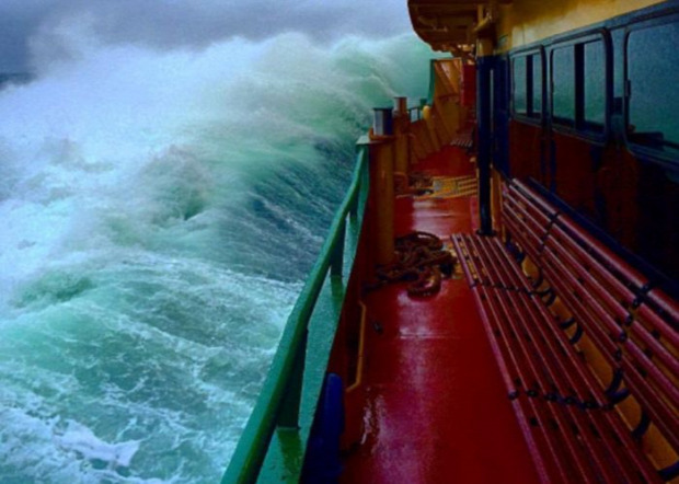 A világ érdekes Sydney kikötő komp vihar óriás hullám
