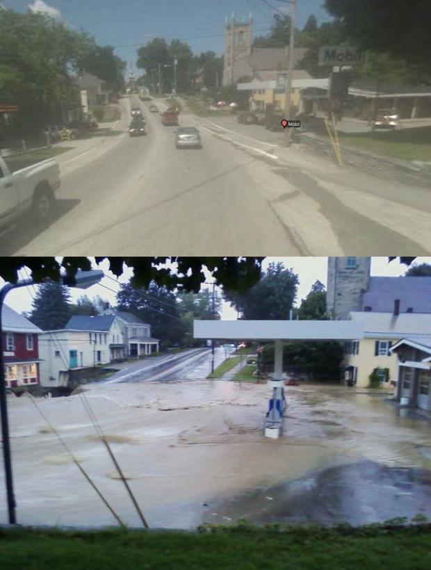 hurrikán Usa Amerika előtt után katasztrófa