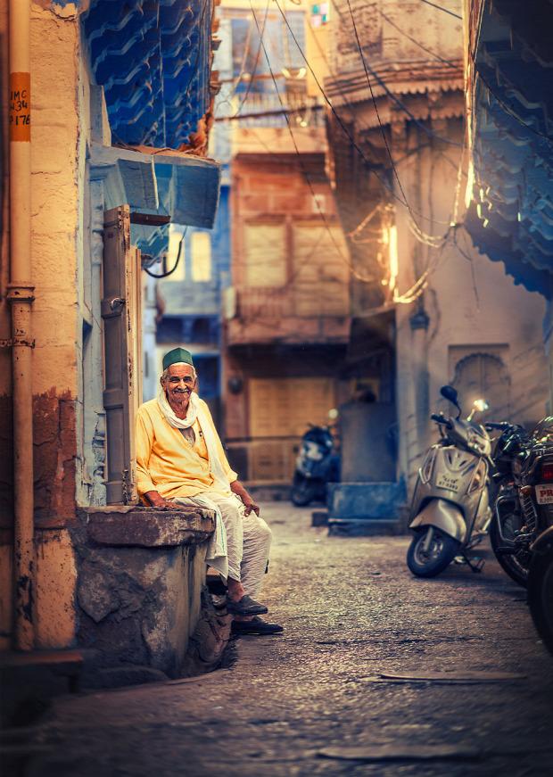 A világ érdekes sikátor szűk utca Dél-Ázsia Ázsia India Bangladesh Nepál
