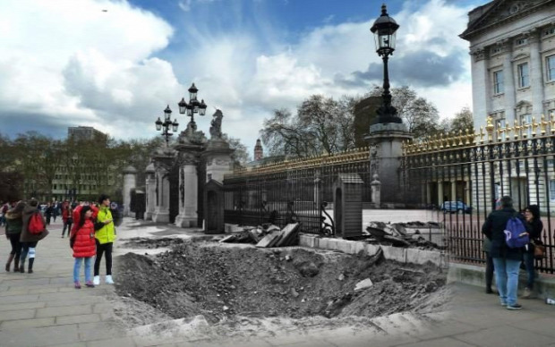 A világ érdekes időmontázs bombázás 1941 London