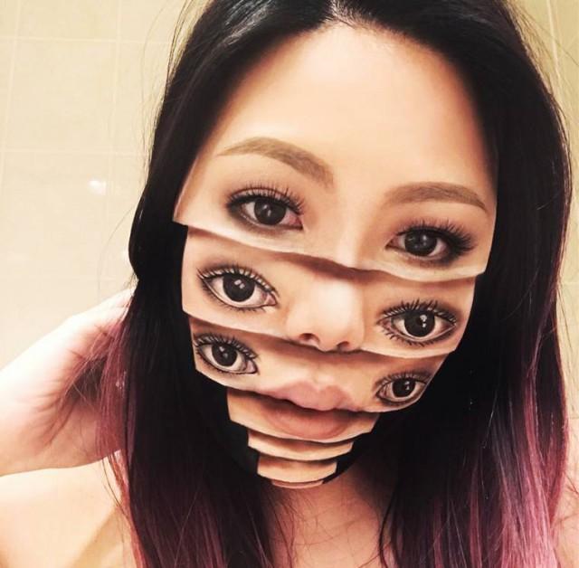 A világ érdekes Mimi choi maszk makeup arc mester művész
