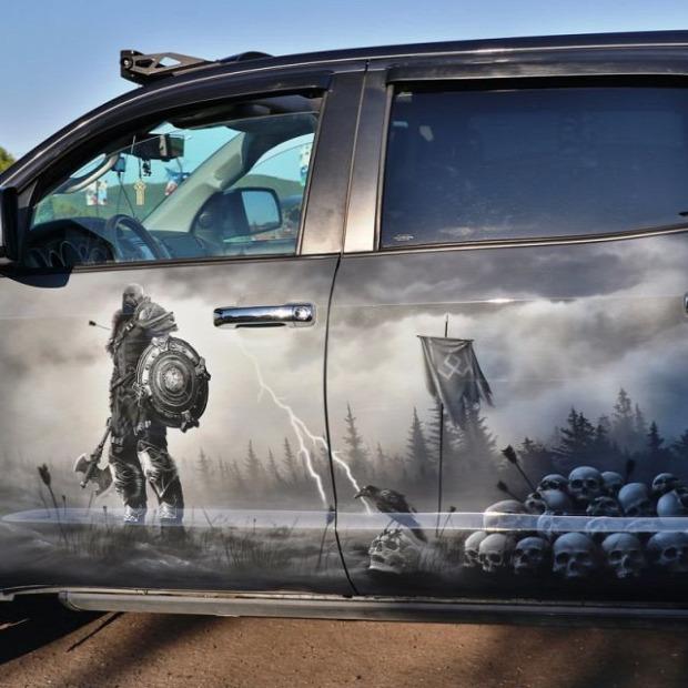 A világ érdekes autó festés kép