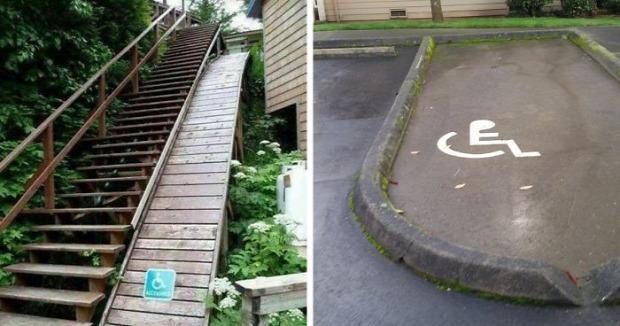 Isten állatkertje kerekesszék rámpa lépcső ajtó út