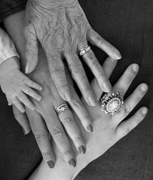 A világ érdekes generáció fotó családi fénykép